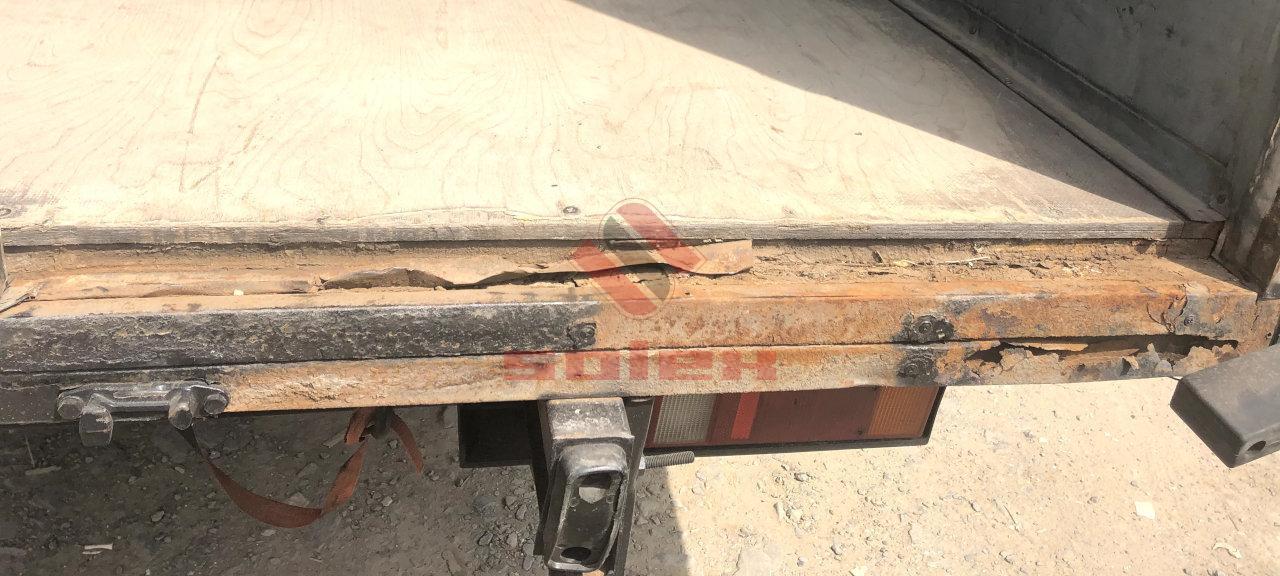 Порог будки до ремонта