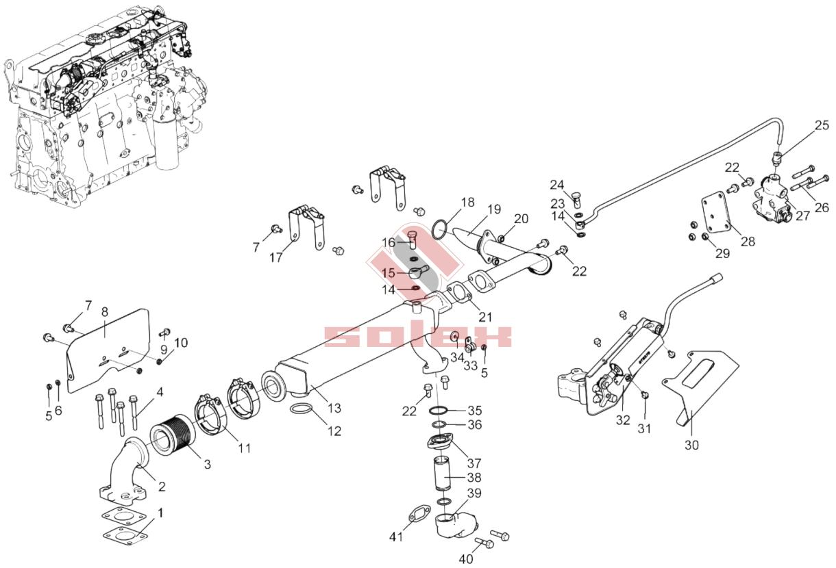 Схема ЕГР ГАЗон NEXT (Некст) ЯМЗ-534